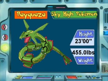 Pokemon of the Week!!! (February and March 2011!) Rayquaza