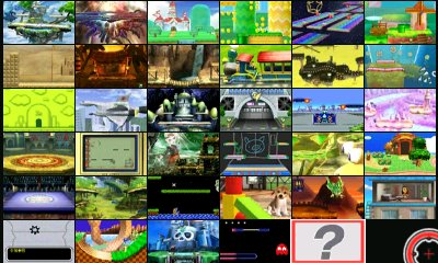 super smash bros for nintendo 3ds stage listings