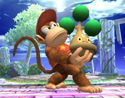 Diddy Kong struggles to carry Bonsly