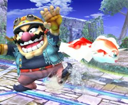 Goldeen Splashes Past Wario