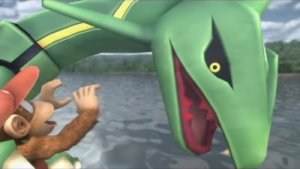 Rayquaza has Diddy Kong