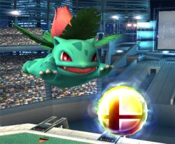 Ivysaur Eyes Up The Final Smash Item