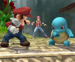 Squirtle goes Against Mario
