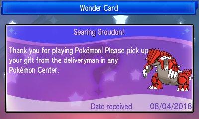 Pokémon Ultra Sun & Ultra Moon - Serial Code Events